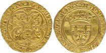 France Ecu d\'Or à la Couronne, Charles VI (1380-1422) - TTB+