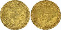 France Ecu d\'Or à la Couronne, Charles VI (1380-1422) - TTB