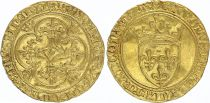 France Ecu d\'Or à la Couronne, Charles VI (1380-1422) - VF - Gold - 2nd ex