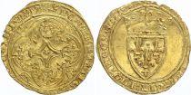 France Ecu d\'Or à la Couronne, Charles VI (1380-1422) - VF - Gold - 3TH ex