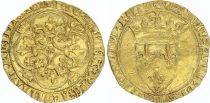 France Ecu d\'Or à la Couronne, Charles VI (1380-1422) - VF - Gold - 4TH ex