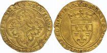 France Ecu d\'Or à la Couronne, Charles VI (1380-1422) - VF - Gold - 5th ex