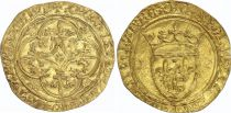 France Ecu d\'Or à la Couronne, Charles VI (1380-1422) - VF - Gold - 6th ex