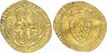 France Ecu d\'Or à la Couronne, Charles VI (1380-1422) - VF - Gold - Angers