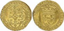 France Ecu d\'Or à la Couronne, Charles VI (1380-1422) - VF - Gold - Tournai - 2nd ex