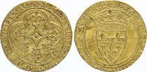 France Ecu d\'Or à la Couronne, Charles VI (1380-1422) - VF - Gold
