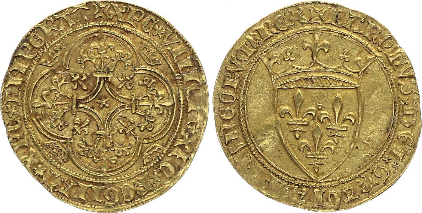 France Ecu d\'Or à la Couronne, Charles VI (1380-1422)
