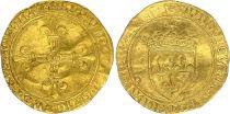 France Ecu d\'Or au Soleil, Charles VIII (1483-1498) - TB+ Amiens