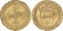 France Ecu d\'Or au Soleil, Charles VIII (1483-1498) - VF - Gold - Toulouse