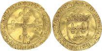 France Ecu d\'Or au Soleil, Charles VIII (1483-1498) - VF - Gold - Troyes