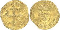 France Ecu d\'Or au Soleil, François Ier - 1515-1547 - Fine + - Limoges