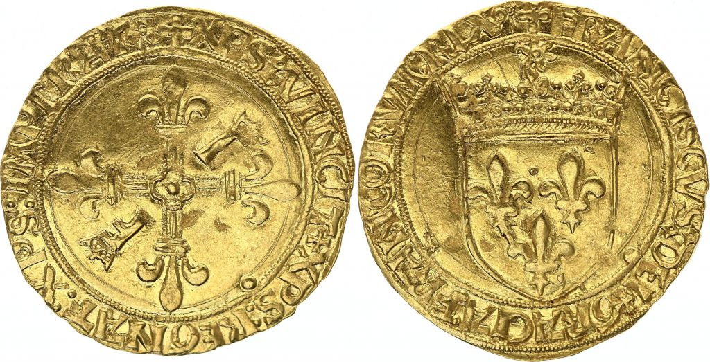France Ecu d\'Or au Soleil, François Ier - 1540-1547 - Toulouse