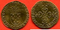France Ecu d\'Or au Soleil, Henri IV - 1609 - Gold