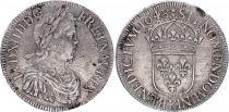 France Ecu Louis XIIII a la mèche longue - 1648 K Bordeaux