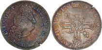 France Ecu Louis XIV aux 8 L - Réformation 1704 A
