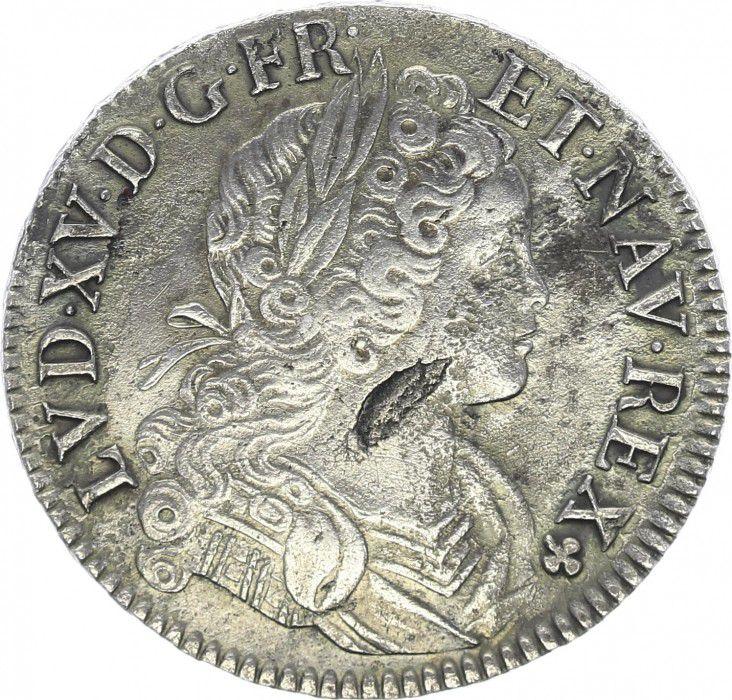 France Ecu Louis XV - Ecu de France-Navarre - 1718 A
