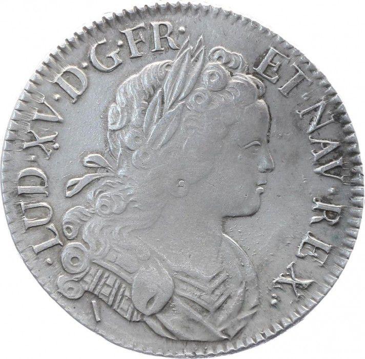 France Ecu Louis XV - Ecu de France-Navarre