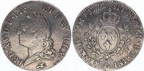 France Ecu Louis XV à la Vieille Tête - 1772 D Lyon