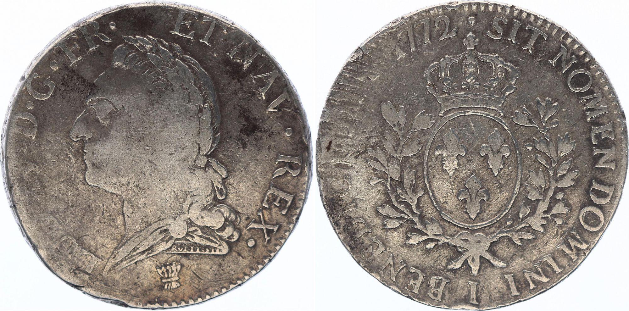 France Ecu Louis XV à la Vieille Tête - 1772 I Limoge