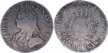France Ecu Louis XV arms of France with sprays - 1726 T
