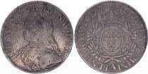 France Ecu Louis XV arms of France with sprays - 1727 A