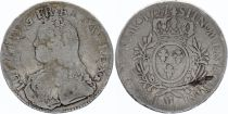 France Ecu Louis XV arms of France with sprays - 1727 M