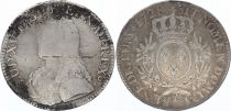 France Ecu Louis XV arms of France with sprays - 1728 E  TOURS