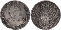 France Ecu Louis XV arms of France with sprays - 1728 M TOULOUSE