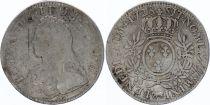 France Ecu Louis XV arms of France with sprays - 1728 Pau