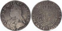 France Ecu Louis XV arms of France with sprays - 1728 R ORLEANS