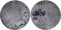 France Ecu Louis XV arms of France with sprays - 1728 X AMIENS