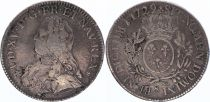 France Ecu Louis XV arms of France with sprays - 1729 S REIMS