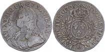 France Ecu Louis XV arms of France with sprays - 1730 D Lyon