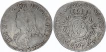 France Ecu Louis XV arms of France with sprays - 1731 9