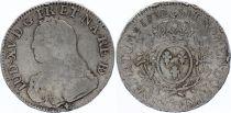 France Ecu Louis XV arms of France with sprays - 1732  Pau