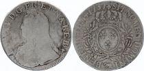 France Ecu Louis XV arms of France with sprays - 1737  Pau