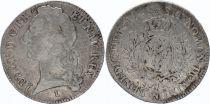 France Ecu Louis XV aux Bandeau - 1748 N