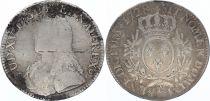 France Ecu Louis XV aux branches d\'olivier - 1728 E TOURS