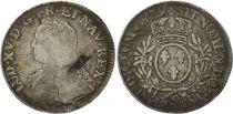 France Ecu Louis XV aux branches d\'olivier - 1729 9