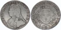 France Ecu Louis XV aux branches d\'olivier - 1734 H