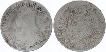 France Ecu Louis XV aux branches d\'olivier - 1738 L