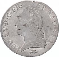 France Ecu Louis XV Old Head - 1772 D Lyon