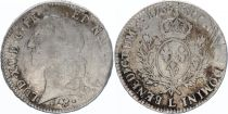 France Ecu Louis XV with head band - 1766 L