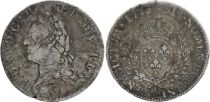 France Ecu Louis XV with old head - 1773 & Aix en Provence - Silver