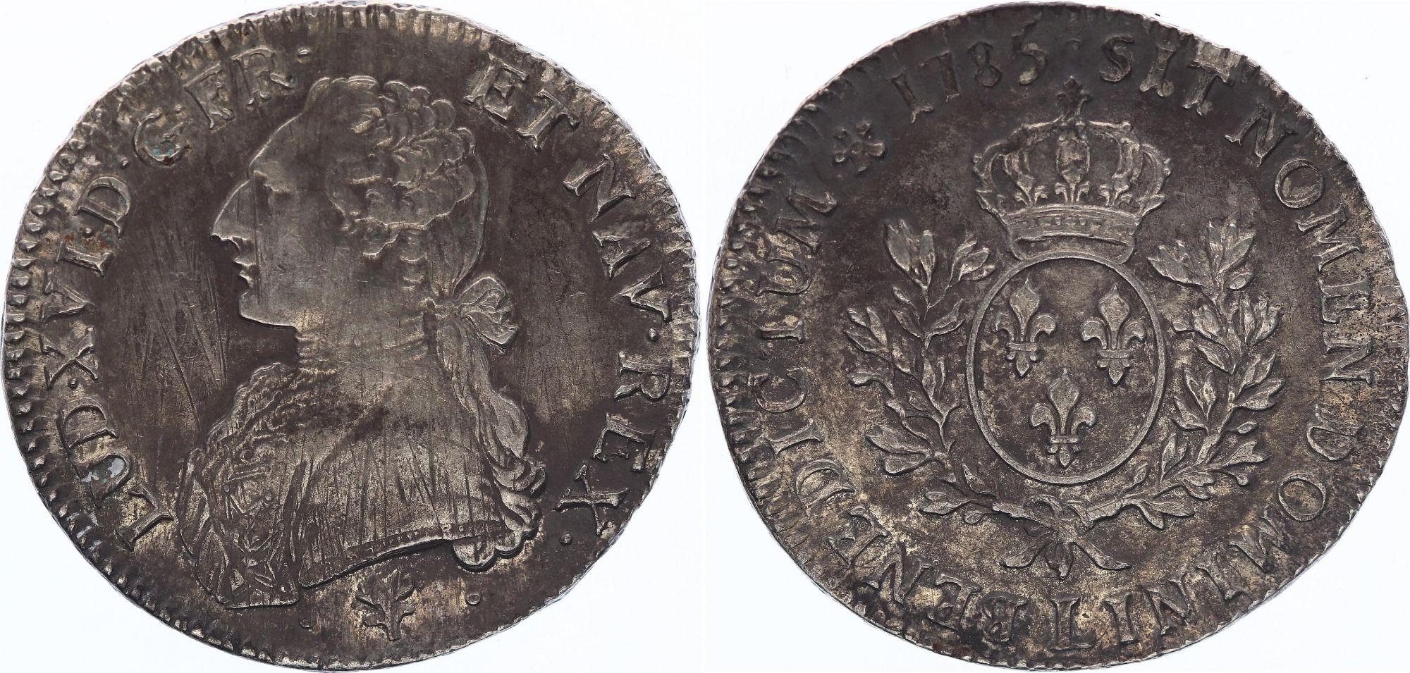 France Ecu Louis XVI aux branches d\'olivier  - 1785 L Bayonne