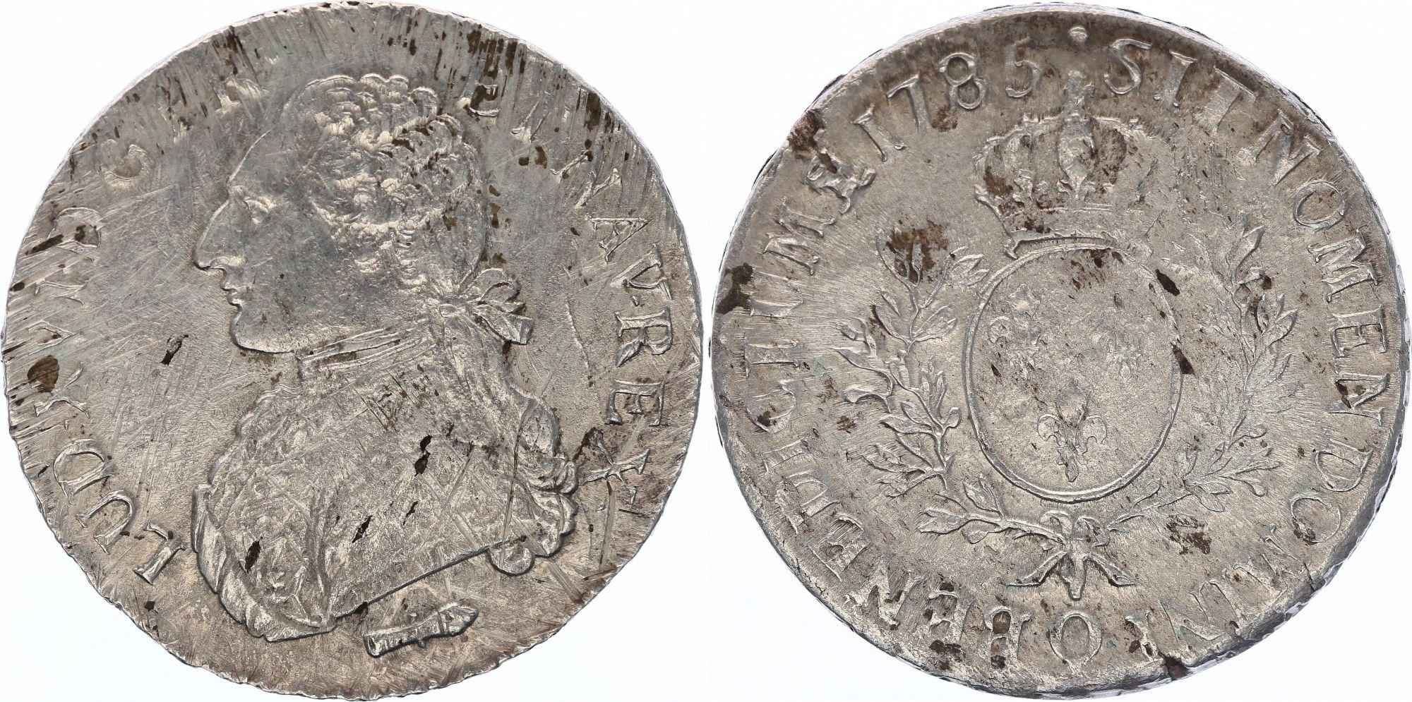 France Ecu Louis XVI aux branches d\'olivier  - 1785 Q Perpignan