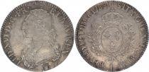 France Ecu Louis XVI aux branches d\'olivier  - 1787 R Orléans