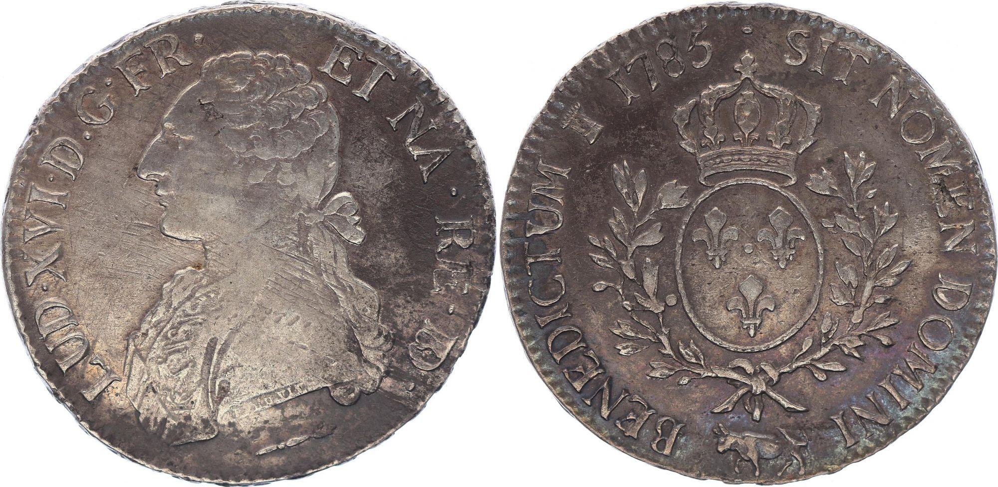 France Ecu Louis XVI aux branches d\'olivier  -1785 Pau