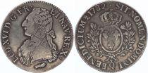 France Ecu Louis XVI Olive branch - 1782 Q Perpignan