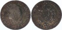 France Ecu of Bearn  Louis XV Old Head - 1774 Pau